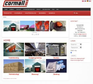 Cormall old website